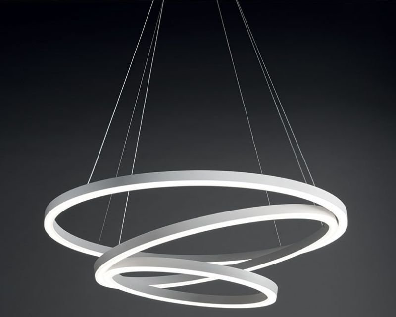 hurricane vivida internationale lampadario led bianco