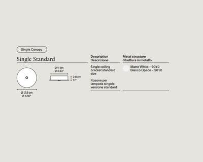 Rosone Tondo standard Lodes per sospensioni