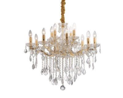 Florian Ideal Lux Lampadario Classico Oro 12 luci