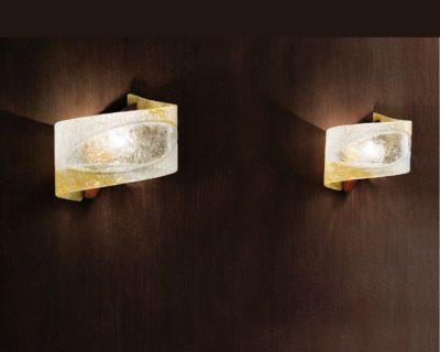 Atene Sil Lux Applique in Vetro di Murano G