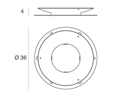 Piastra antifurto di Fissaggio per arredi luminosi Linea Light diam.36 cm