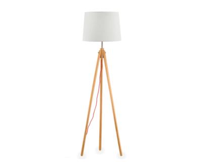 York Ideal Lux Lampada da Terra Legno