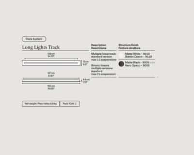 Binario Lineare Lodes lungo per sospensioni