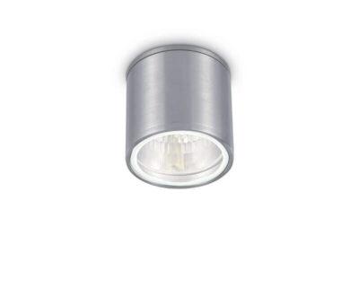 Gun Ideal Lux Plafoniera Tonda Cilindrica alluminio