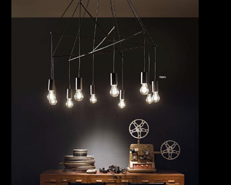 Lampadario Bianco Opaco : Pop ideal lux lampadario moderno a sospensione lightinspiration