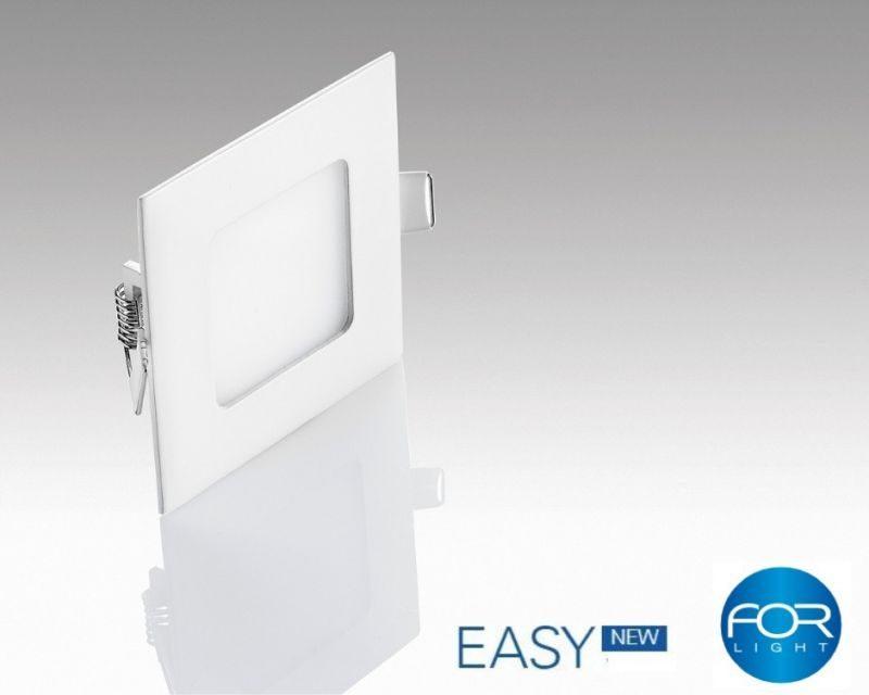 Faretti Per Cartongesso Quadrati.Easy For Light Faretto Led Da Incasso Quadrato 4 6w Ultraslim Nuova Tecnologia