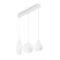 Soft Ideal Lux Lampadario Moderno Bianco 3 luci su Binario