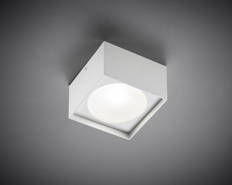 Plafoniere Quadrate Eleganti : Cube square vivida plafoniera led quadrata lightinspiration.it