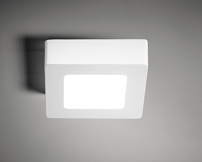 Plafoniera Quadrata : Vpl01 06 vivida plafoniera led quadrata 6w lightinspiration.it