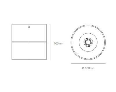 Plafone-led-orientabile-Cyber-bianco