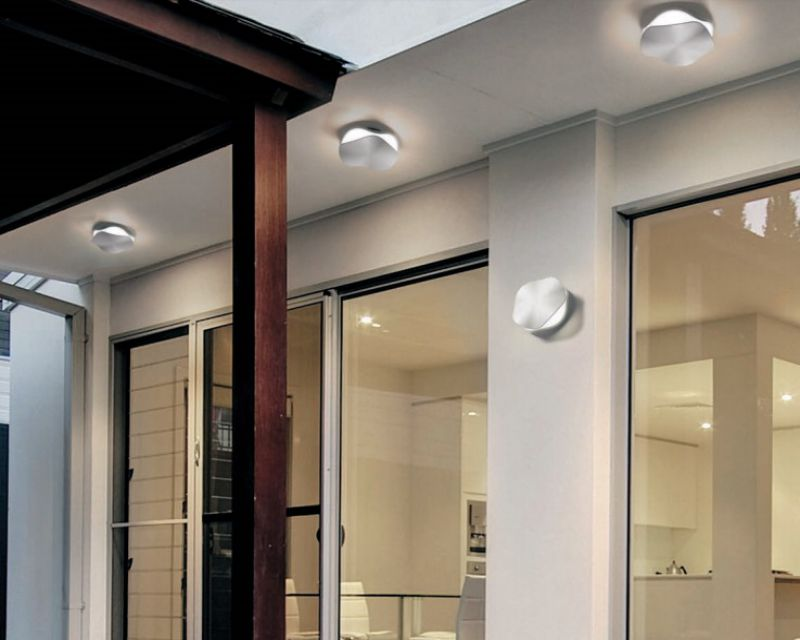 Plafoniera Led Esterno Soffitto : Wave vivida applique plafoniera led per esterni