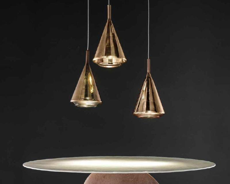Kalì sil lux sospensione led di design 3 luci lightinspiration.it