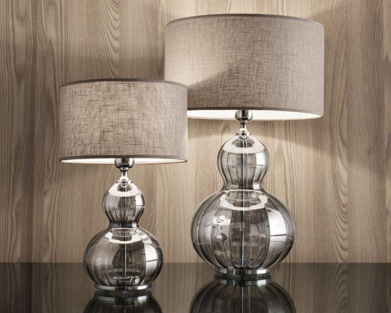 Olivia antealuce lampada da tavolo iride cromo lightinspiration