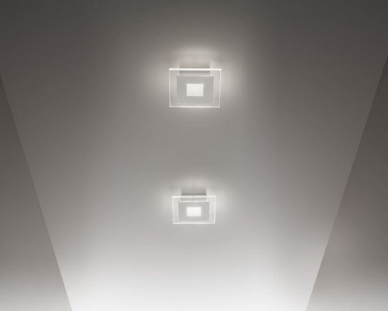 Plafoniera Quadra Led 108 : Space antealuce applique plafoniera led in cristallo