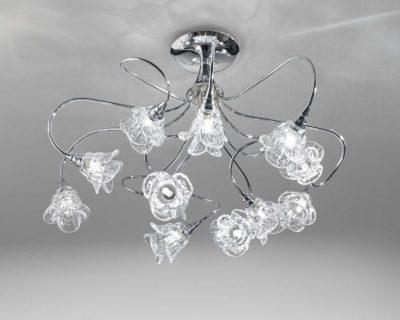 Plafoniera Rettangolare Cristallo : Lo store di illuminazione per interni ed esterni lightinspiration.it