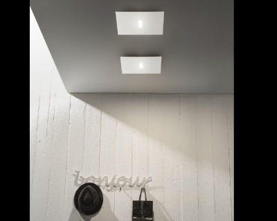 Plafoniera Quadra Led 108 : Tratto antealuce plafoniera led contemporanea lightinspiration