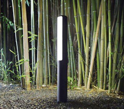 etere-ideallux-palo-per-esterno-nero-giardino