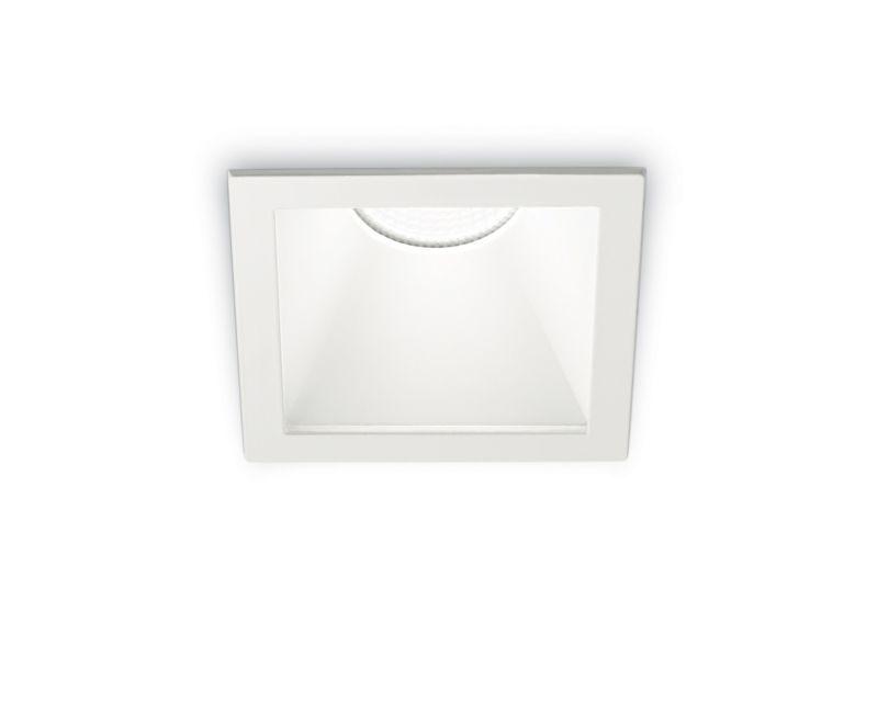 game-square-ideallux-faretto-da-incasso-quadrato-bianco