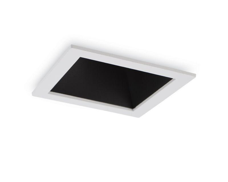 game-square-ideallux-faretto-da-incasso-quadrato-nero