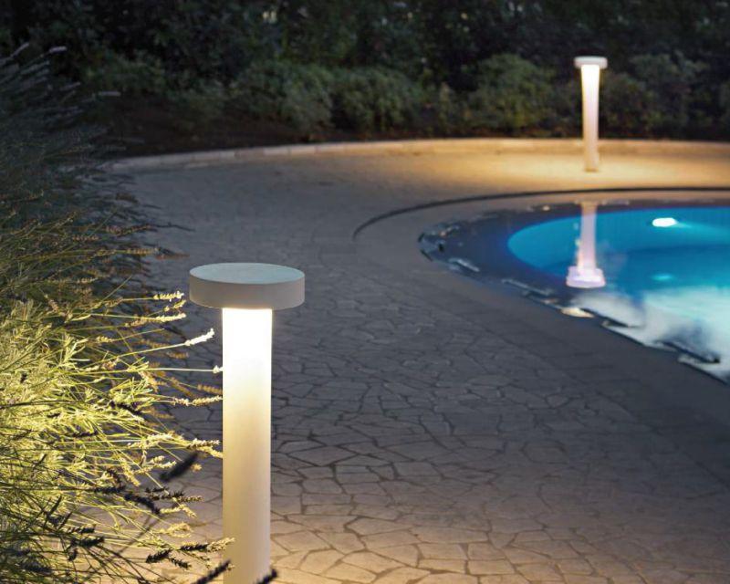 Plafoniere Da Palo Per Esterno : Tesla ideal lux palo per esterni lightinspiration