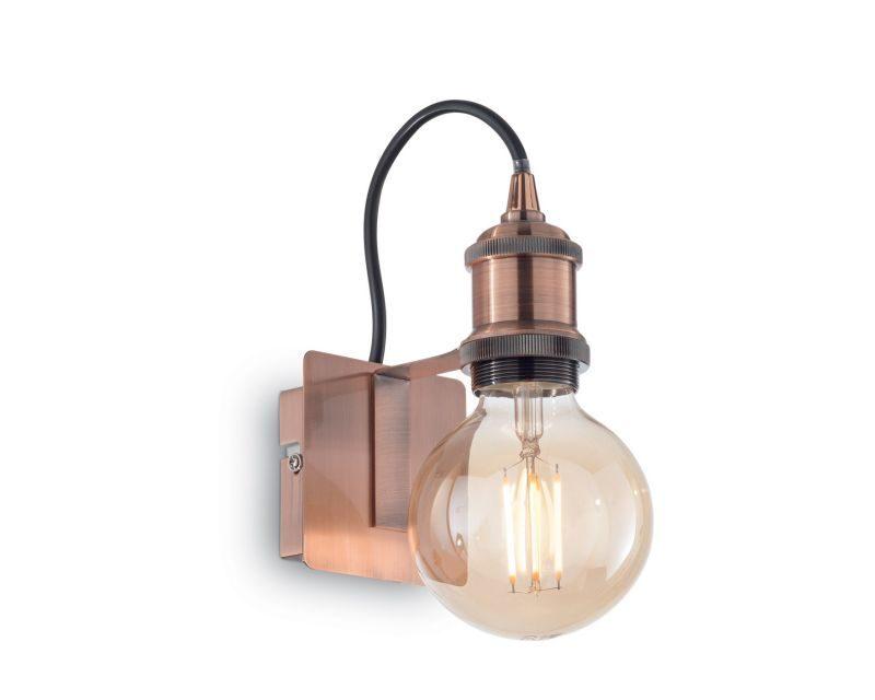 Lampade Rustiche In Rame : Frida ideal lux lampada da parete in stile industriale