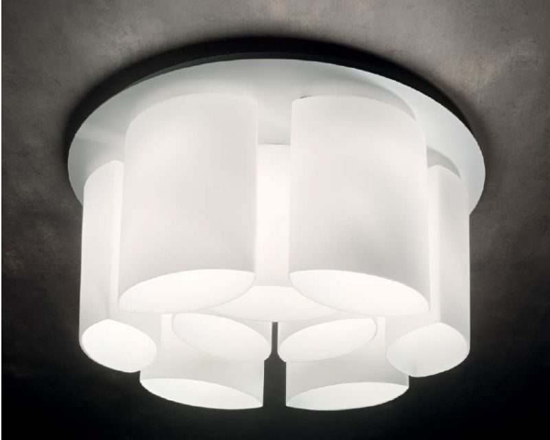 Plafoniere In Vetro Moderne : Almond ideal lux lampada a soffitto moderna lightinspiration