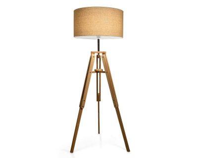 klimt-ideallux-lampada-da-terra-con-paralume-big-legno