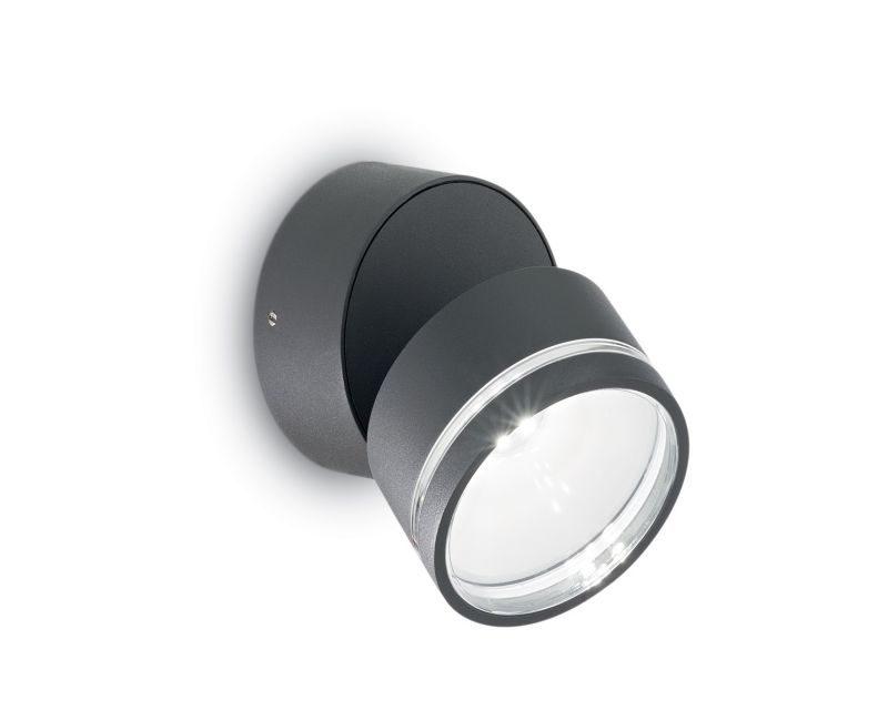 omega-round-ideallux-lampada-da-parete -inclinabile-antracite