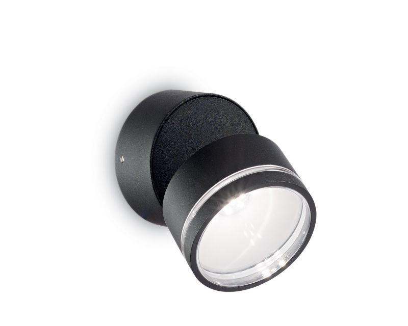 omega-round-ideallux-lampada-da-parete -nero