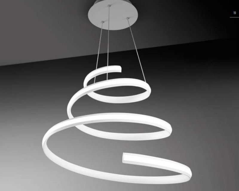 Lampadari A Sospensione A Led.Spiral Vivida International Lampadario A Sospensione Led 40w Dimmerabile