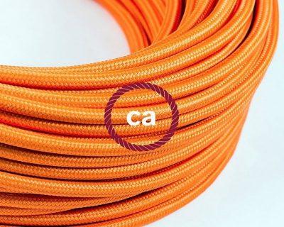 cavo-elettrico-rotondo-rivestito-in-tessuto-effetto-seta-tinta-unita-arancione-rm15