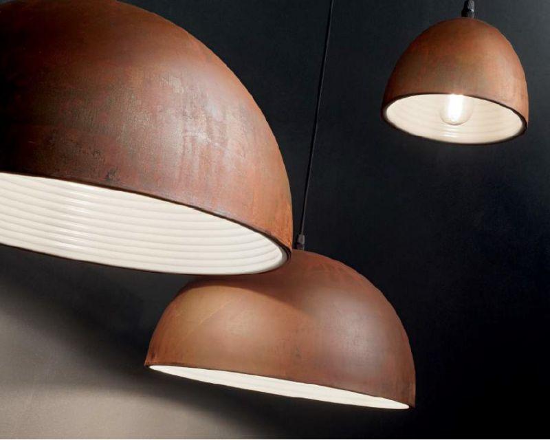 Plafoniere Stile Industriale : Folk ideal lux lampada a sospensione industriale