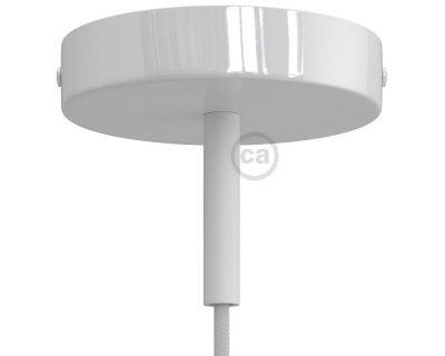 kit-rosone-120-mm-con-serracavo-cilindrico-lunghezza-7-cm-in-metallo-bianco-opaco