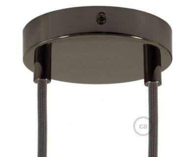 kit-rosone-2-fori-nero-perla-120-mm-con-serracavi-in-metallo-nero-perla