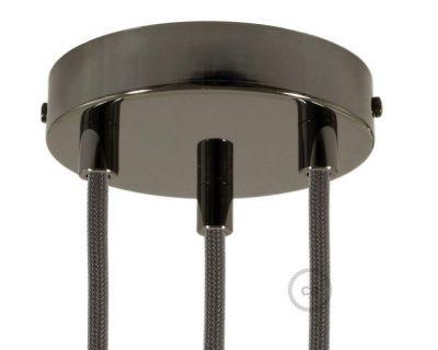 kit-rosone-3-fori-nero-perla-120-mm-con-serracavi-in-metallo-nero-perla
