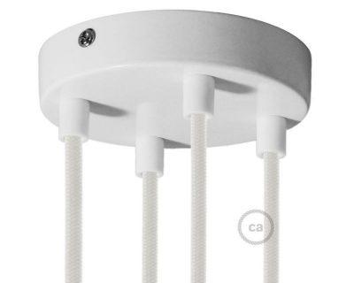 kit-rosone-4-fori-bianco-120-mm-con-serracavi-in-plastica-bianca
