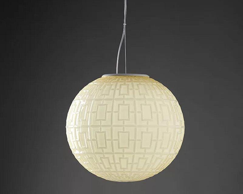 Lampade In Vetro Soffiato : Ball sforzin lampadario a sospensione lightispiration.it