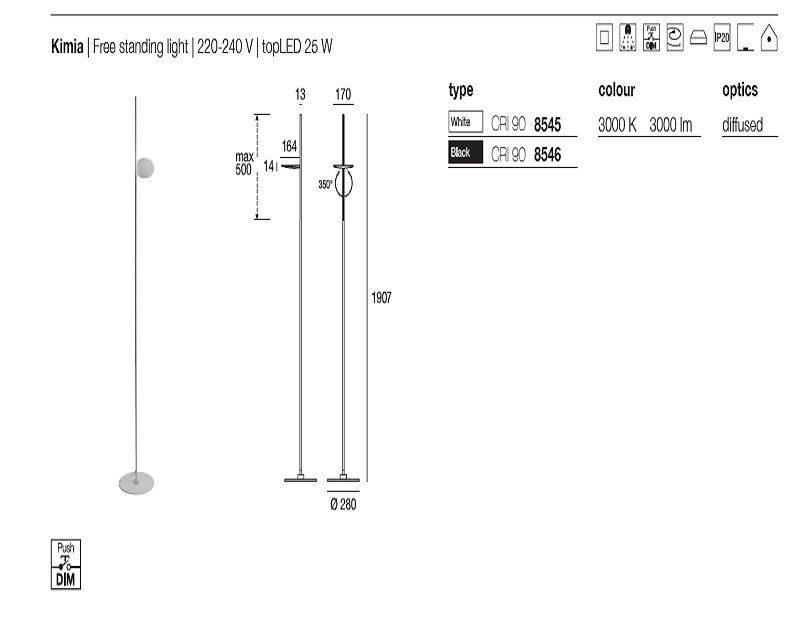 kimia-lampada-da-terra-led-made-disegno-tecnico