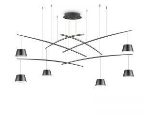 fish-lampadario-sospensione-led-sei-luci-nero-ideal-lux