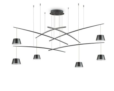 fish-lampadario-sospensione-led-sei-luci-nero-ideal-lux