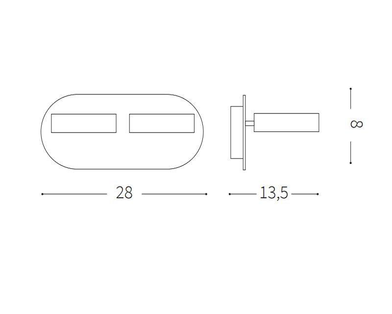 oby-lampada-parete-due-led-ideal-lux-tecnica