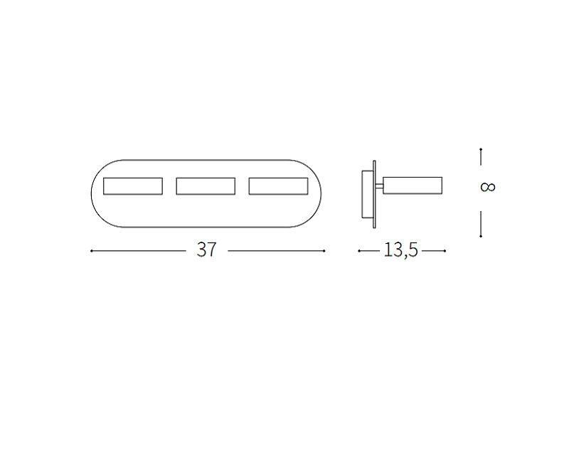 oby-lampada-parete-tre-led-ideal-lux-tecnica