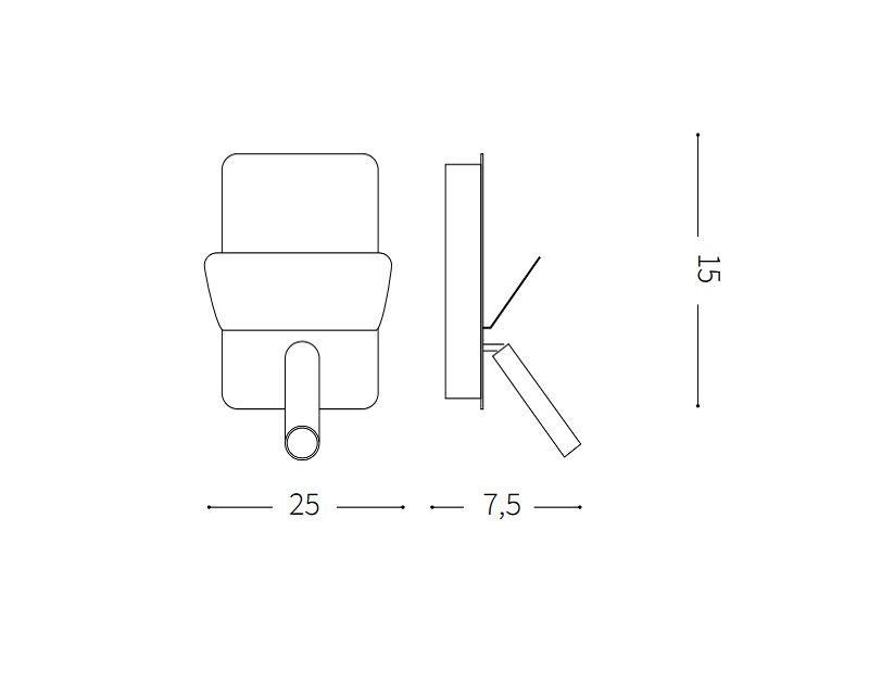read-applique-led-usb-ideal-lux-tecnica