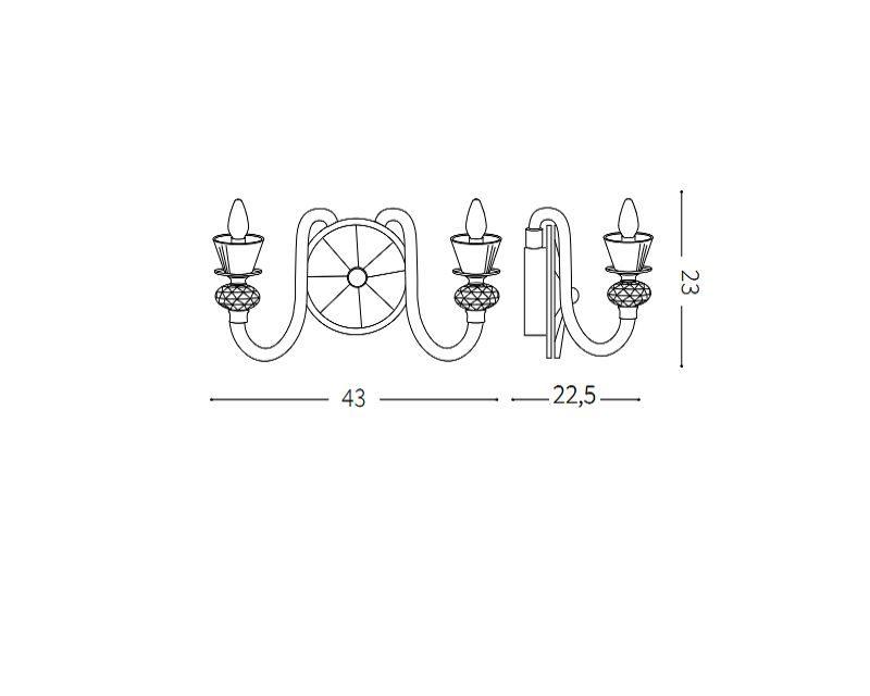 strauss-applique-classica-vetro-soffiato-ideal-lux-tecnica