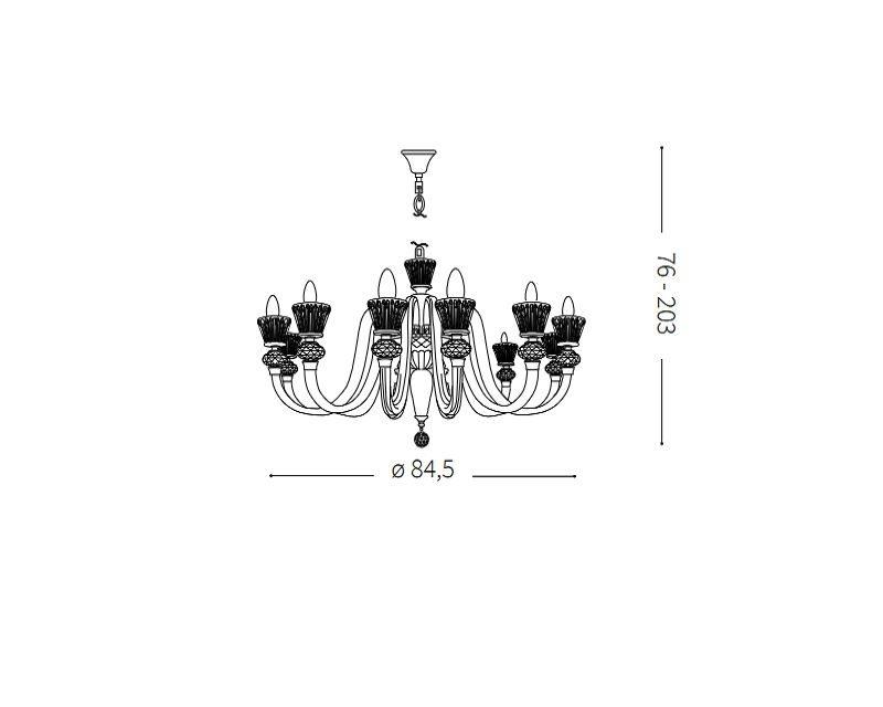 strauss-lampadario-sospensione-classico-vetro-soffiato-ideal-lux-tecnica
