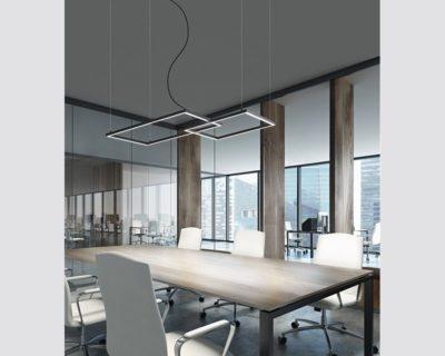 cross-lampadario-moderno-led-orizzontale-led-due-riquadri-nero-perenz-ambientazione