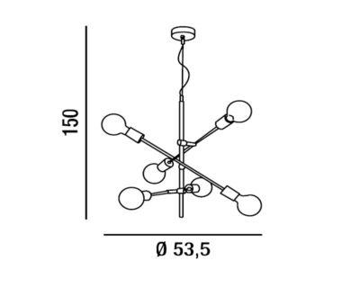 vector-lampadario-a-sospensione-orientabile-a-sei-lampade-perenz-scheda-tecnica