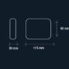 cloe-applique-led-esterno-small-vivida-luce-tecnica