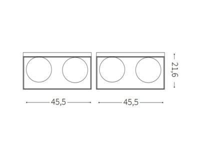 lingotto-ideal-lux-lampada-soffitto-moderna-vintage-quattro-luci-tecnica