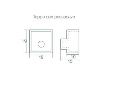 Neon Flex Elcom Sistema Flessibile Luminoso Ip67 Tappo con passacavo